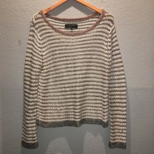 Rag & Bone NY Gray Pink Metallic Knit Sweater L